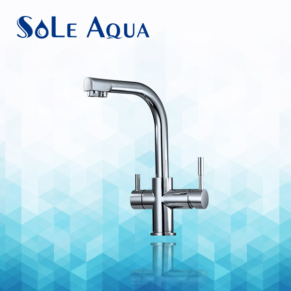 High quality hot / cold / pure water 3 way kitchen and drinking faucet