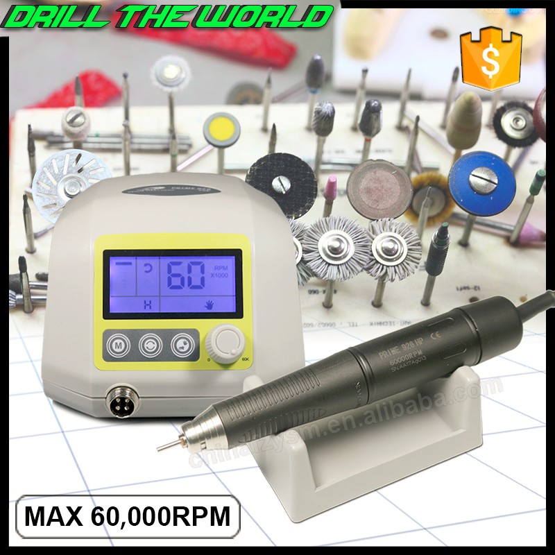 Powerful torque 60000rpm brushless rotary micro motor jewellery stone setting general polishing system