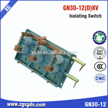 12kv Rotary Indoor High Voltage Disconnector Gn30 Series Suitable For Switchgear