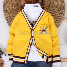 Boys Knitted West style cardigan sweater with Union- Jack Pocket