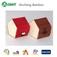 AC-YZL 004 Exquisite new design bamboo material bamboo handicraft decorative boxes for gifts