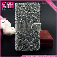 New Flip Leather Rhinestone Luxury Bling Case For iPhone 6 6plus /For iPhone 6s 6splus