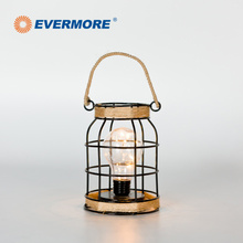 EVERMORE Cool Design Iron Frame Wireless Led Vintage Table Fairy Lamp