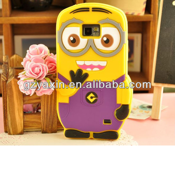 3d silicone case for samsung galaxy s2 i9100,3d despicable me case for samsung galaxy s2
