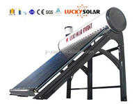 Pre-heated open loop pressure bearing type water solar heater with coopper coils in water tank