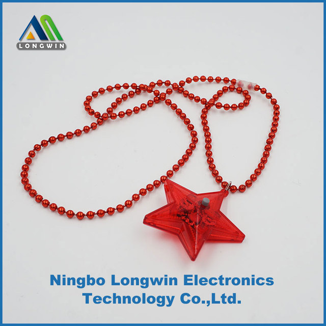 battery operated flashing star necklace