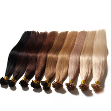 Top quality Indian virgin hair weft gray remy U-tip Hair extension