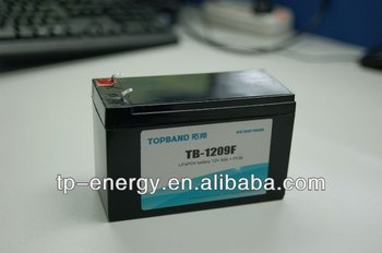 Glider lithium battery 12V 9Ah TB-1209F with BMS