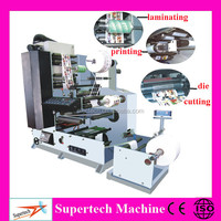 Multifunctional Automatic 4 Color flexo printing machine Roll To Roll flex printing machine Price
