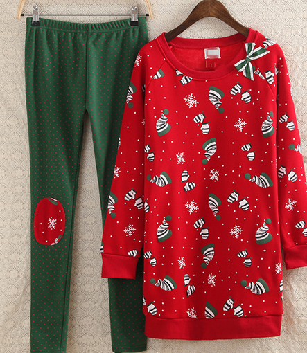 wholesale China factory cheap matching family christmas pajamas
