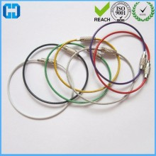 Stainless Steel Wire Cable Loops Rings Rope Key Ring Wire Keychain