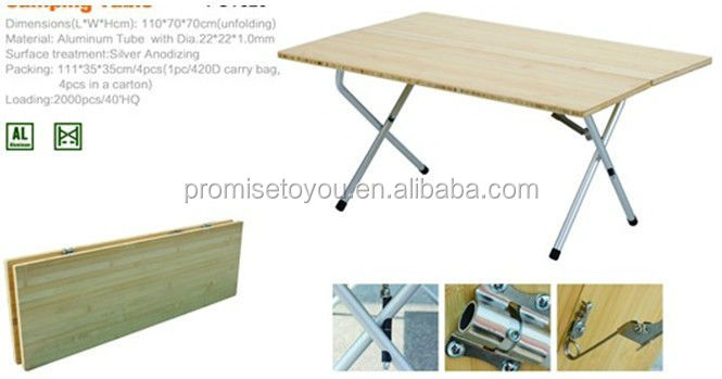 Yongkang의 약속 인기있는 대나무 접이식 테이블 대나무 캠핑 ...