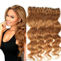 Light Brown Virgin Hair 5A Unprocessed Peruvian Virgin Hair Body Wave Honey Blonde Hair Extensions