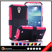 Keno Phone Case Silicone+PC 2 in 1 Shockproof Case for Samsung S4, for Samsung Galaxy S4 Case Hybrid