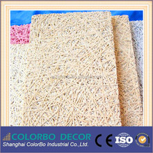 Natural Poplar Wood Wool Acoustic Panels Sound Insulating Board