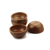 acacia wood small dipping bowl