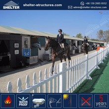 Beijing Shelter waterproof stables horse shed for sale set up on grass dirt firmly