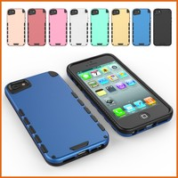 Combo tpu pc rugged rubber ultra thin mobile phone case cover for iphone 5s