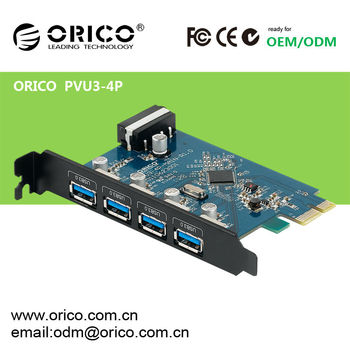 ORICO PVU3-4P 4-Port USB3.0 PCI Express Card, VLI800 Chipset