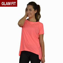 Fashion Style Customized New Deaign women sports Sleeve Breathable Dry Fit Gym workout Sports Ladies T-Shirts yoga tops