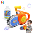 2018 New design  saw bubble machine electric soap bubble toys with light and music