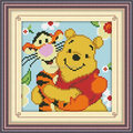 Winnie bear cartoon DIY kids crystal diamond embroidery drawing painting