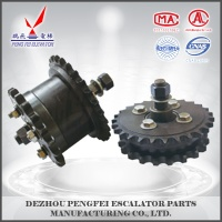 high quality 20 teeth 27teeth double row escalator gear with 6204 bearing