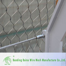 2015 alibaba china supplier Tennis Net/Ferruled stainless steel wire rope mesh net