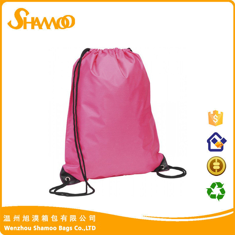 Waterproof polyester cheap shoes storage drawstring gym bags