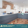 2018 Vermont New Blue Color MDF Wooden Kitchen Cabinet With Island Design