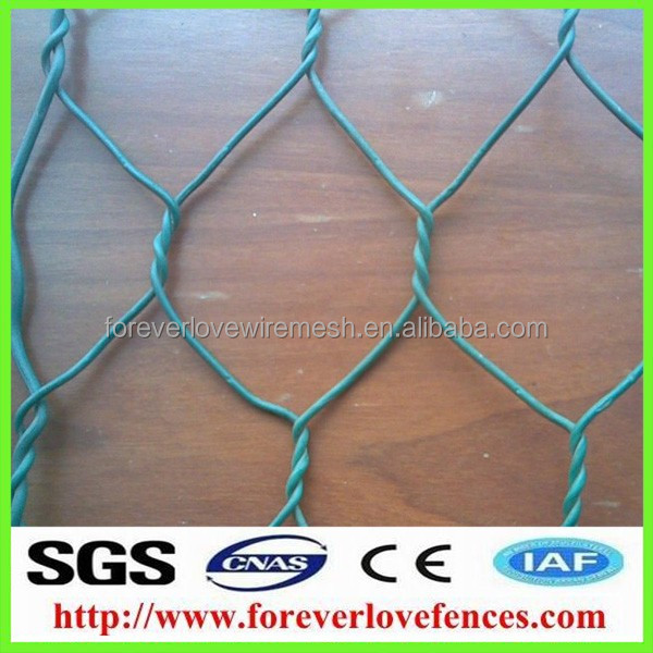 2015 cage fencing plastic coated hexagonal wire netting chicken rabbit mesh