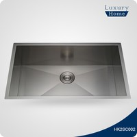 Square large single bowl sink for kitchen