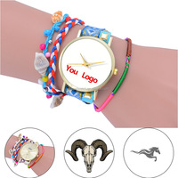Fashion Rope Women Watch Custom Made Ladies Bracelet Watch