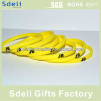 cheap custom rubber bands,mini slim colored printing silicone wristband/silicone rubber bracelets