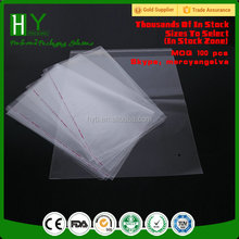 food packing bag/self adhesive clear plastic jewelry packaging/wholesale opp plastic bag hole