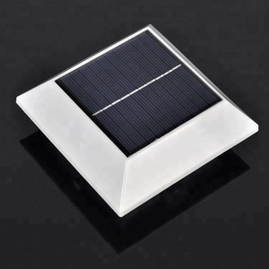 outdoor 4 LED square solar lamp PIR sensor motion roof gutter solar lights