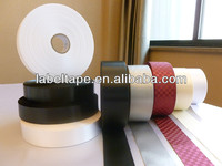 black double faced label ribbon