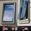 Double glazed awning window latest home window design with timber reveal