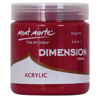 Mont Marte Dimension Acrylic Paint 250mls - Magenta