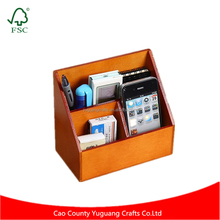 Wooden Table Sundries Container Cosmetics Multifunctional Desktop Office Supplies Home Storage Box Organizer