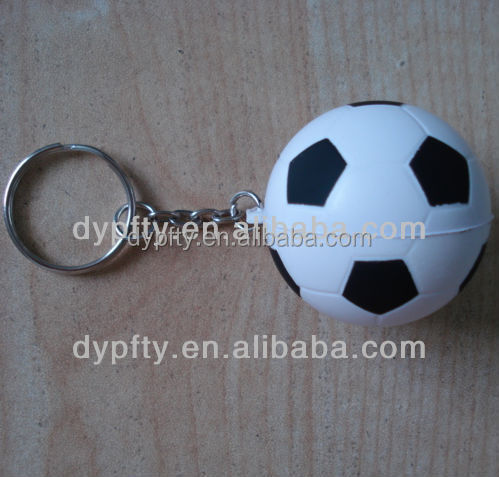 PU stress soccer Ball football keychain