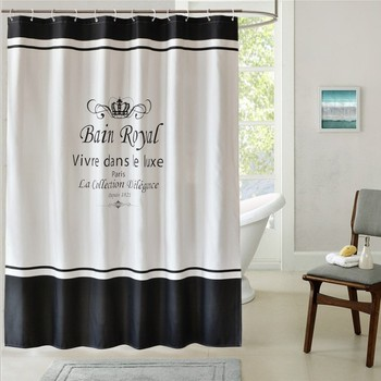 Color custom shower curtain/Color Change and Eco-Friendly Feature transparent bathroom curtain