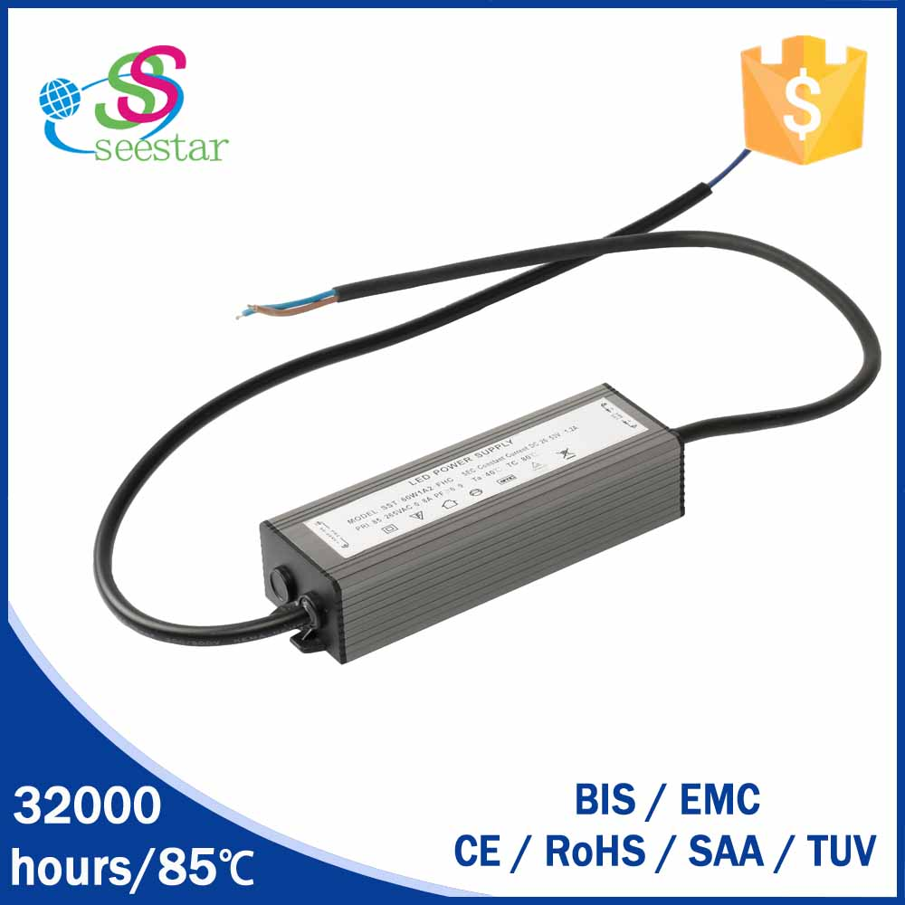 constant current 1750ma 60w waterproof ip65 led driver