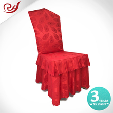 Ruched Polyester Red Feather Printing Luxury Throne Wedding Seat Covers Material To Make Conference Chair Covers
