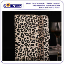 Leopard Leather case with stand for SAMSUNG Galaxy S5 i9600