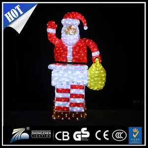 CE ISO Approved outdoor decoration Santa Claus led christmas light