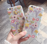 2016 Wholesale Summer Fresh Style Flower Ultra Slim Soft TPU Phone Case Cover For iPhone 5/5s/6s/6plus