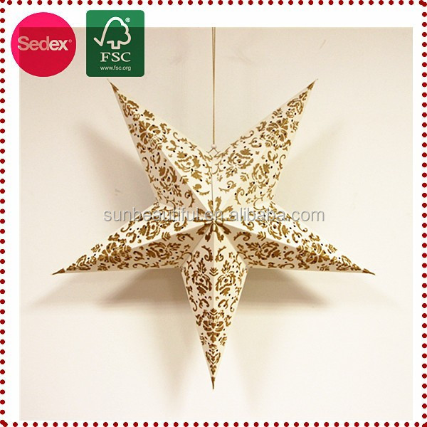 Glitter paper star lanterns arts and crafts decoration