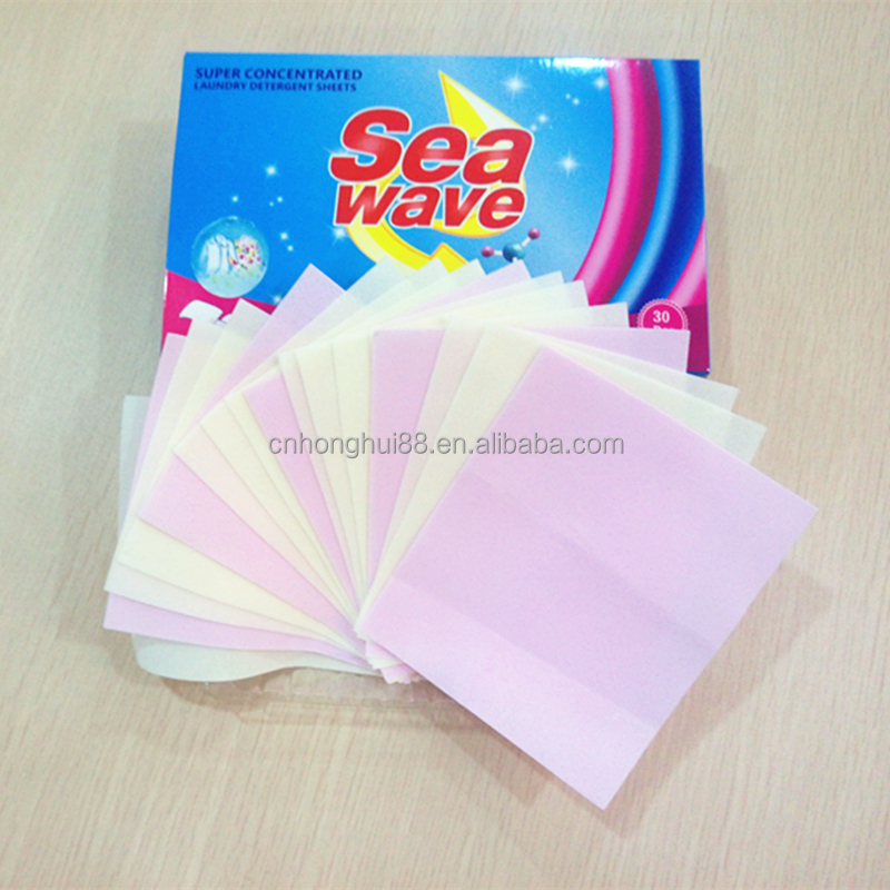 Private label guangzhou factory ISO approved soap tablet laundry detergent paper sheets