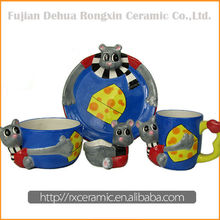 China Wholesale Custom Ceramic Cartoon blue and white chinese dinnerware
